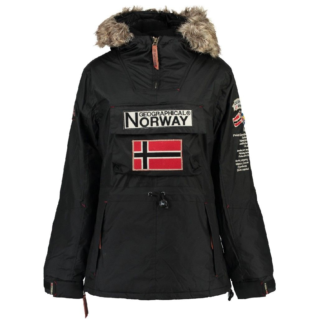 Ass Geographical Boomera Parka Negro B Mujer Norway 4AEUwOq