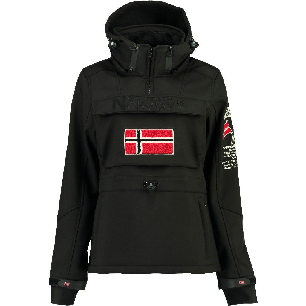 chaqueta softshell negro mujer geographical norway