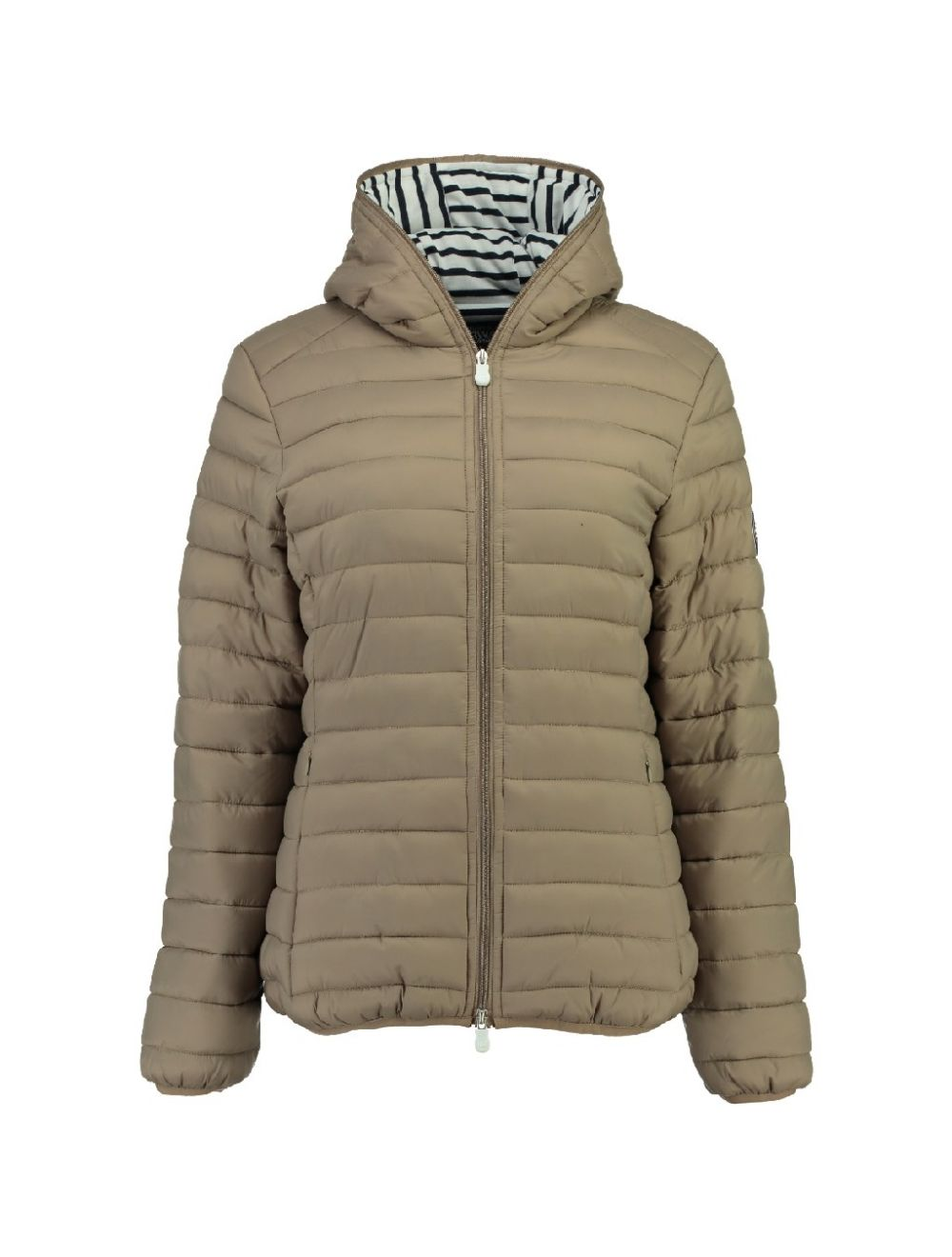 CHAQUETA DE MUJER DINETTE HOOD 056 TAUPE