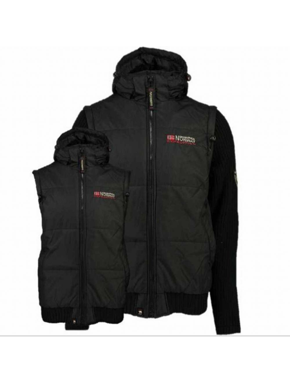 PARKA CHALECO HOMBRE CRUMBERRY 056 REPEAT NEGRO